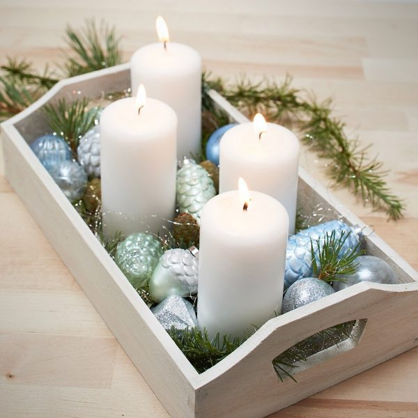 christmas wooden tray
