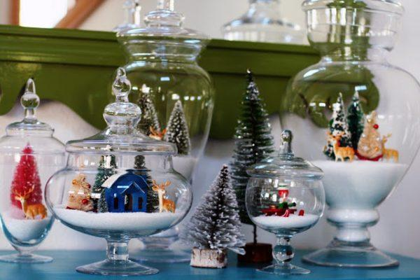 christmas terrarium figurines