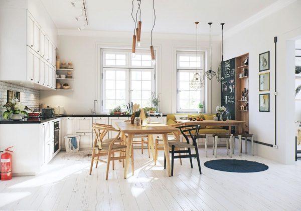 light kitchen floors