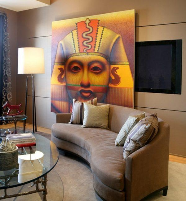 hide tv with art