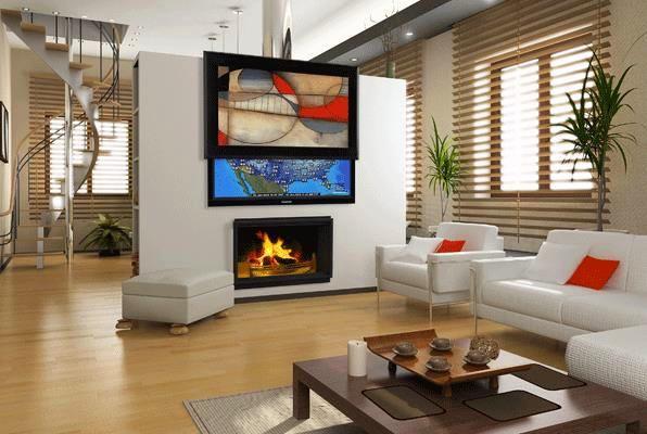hide tv behind painting