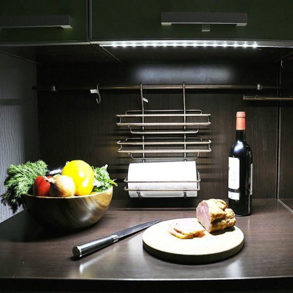 led track lighting under cabinet