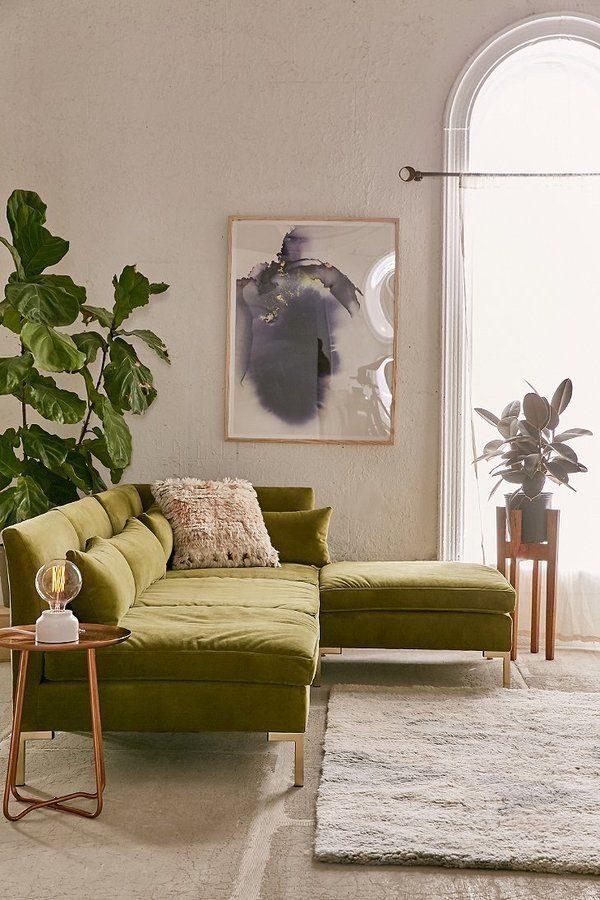 modern velvet sofa