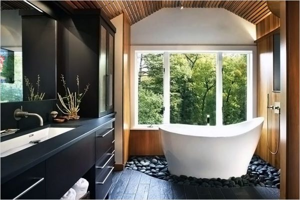 zen themed bathroom
