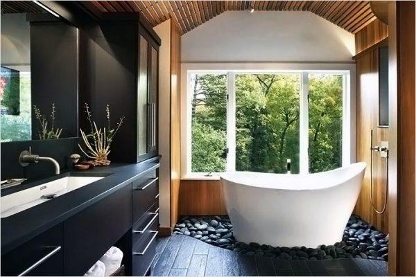 zen themed bathroom