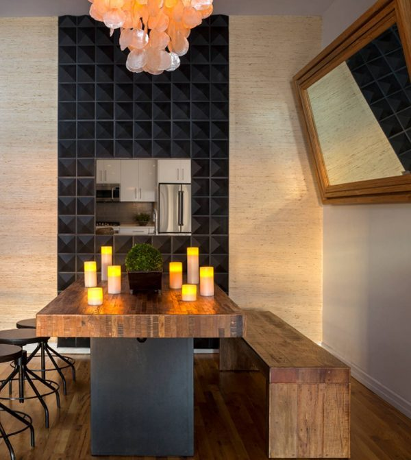 Dining Room Accent Pieces: Dining Room With A Black Accent Wall