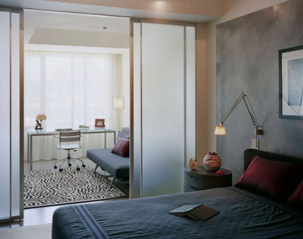 Bedroom with Sliding Glass Doors