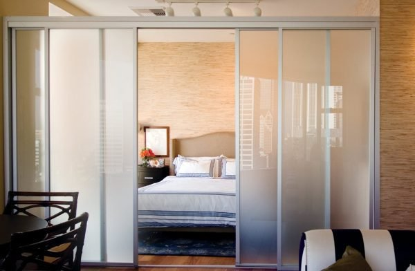 sliding glass partition doors