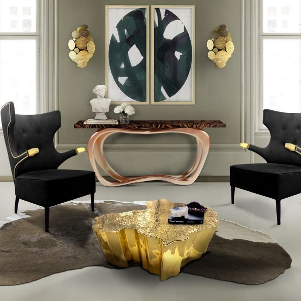 modern furniture console table