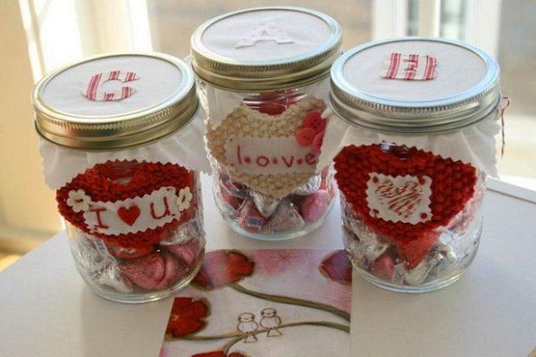 mason jar valentine gifts