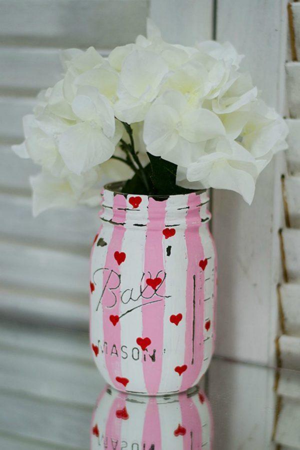 mason jar crafts for valentine's day