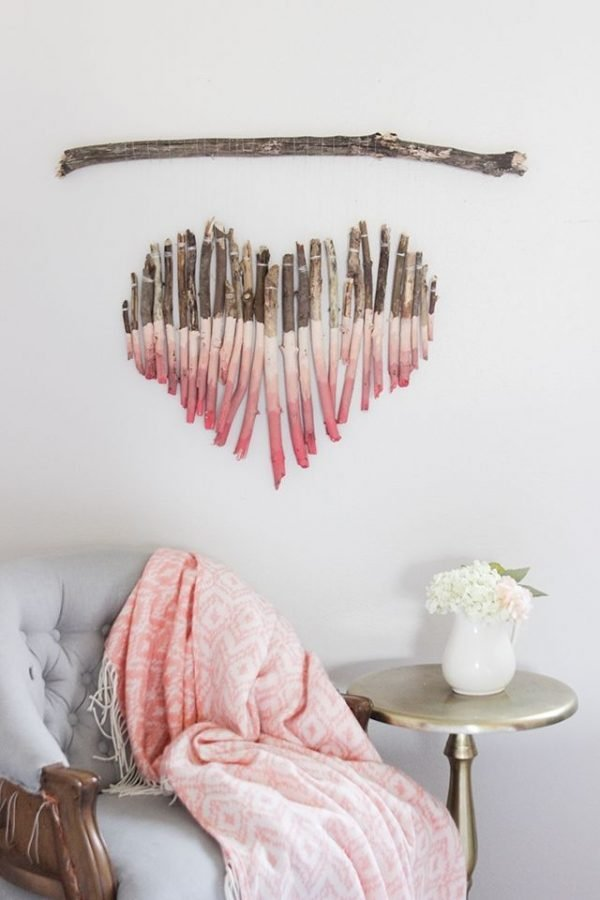 Rustic valentine decor
