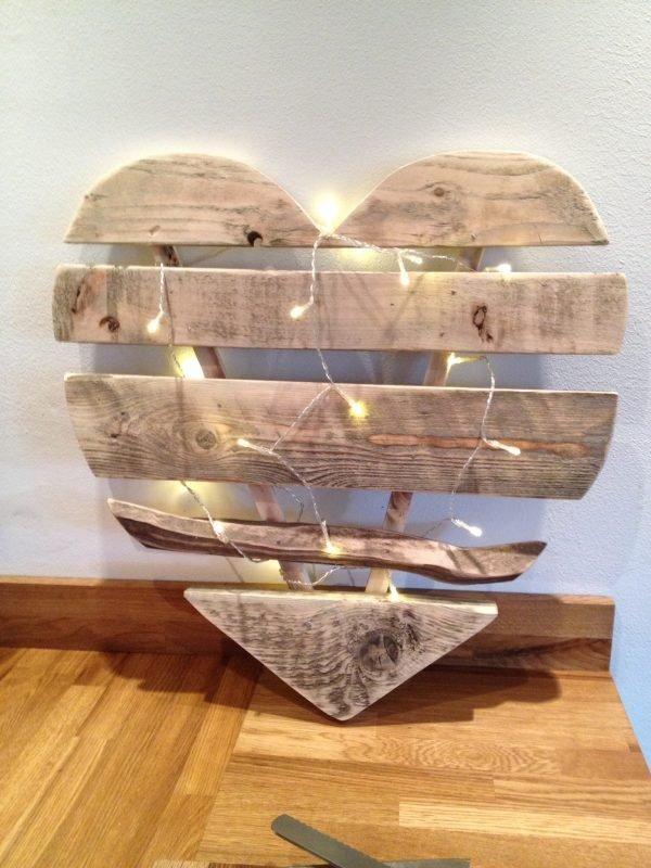 wooden valentine hearts