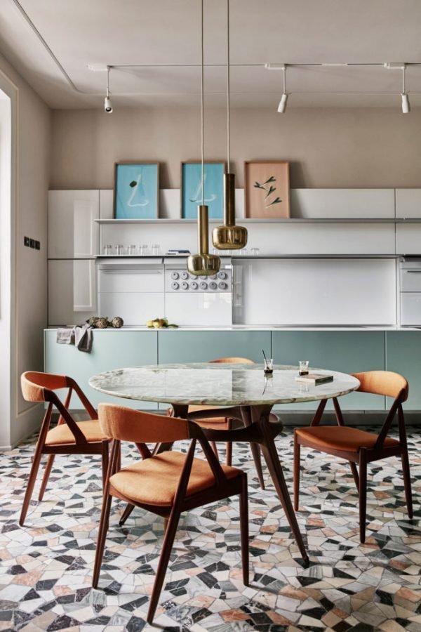 terrazzo kitchen floor