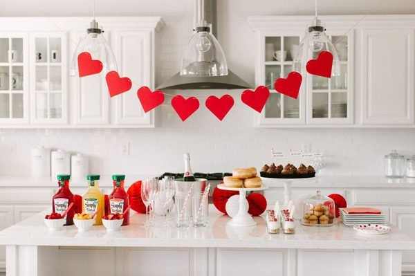 valentine's day kitchen decor