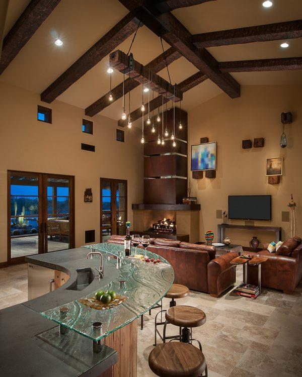 Living room and bar design
