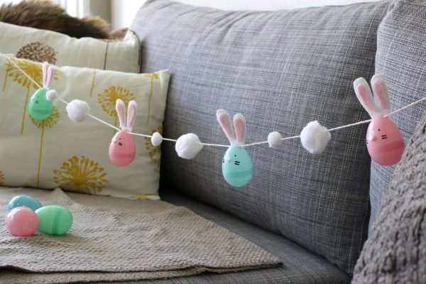 plastic egg bunnies