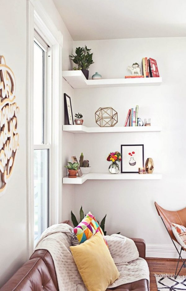 corner shelves living room furniture