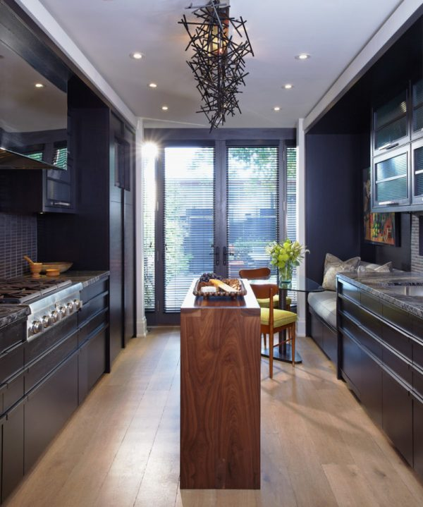 long narrow kitchen design