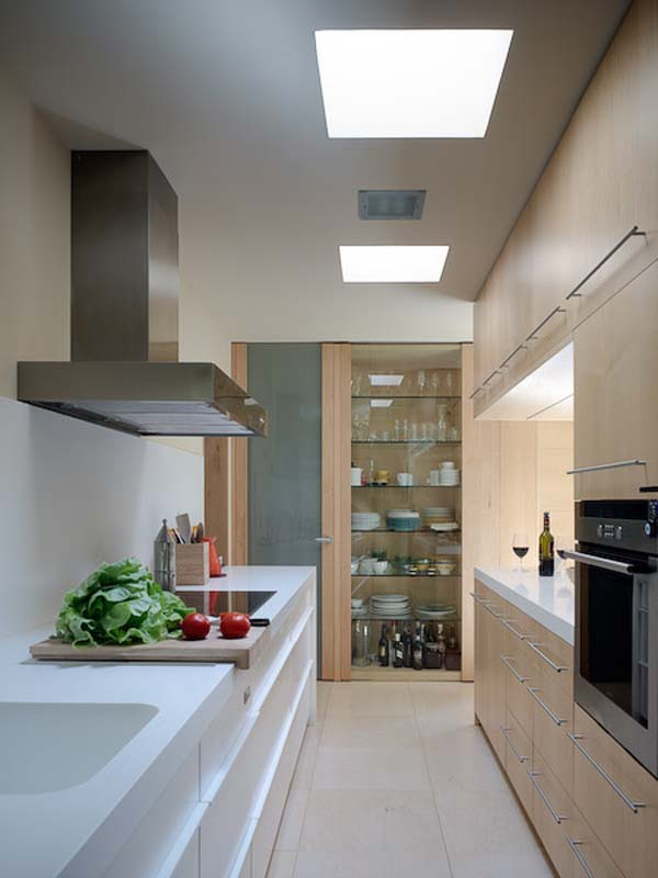 long narrow kitchen cabinet