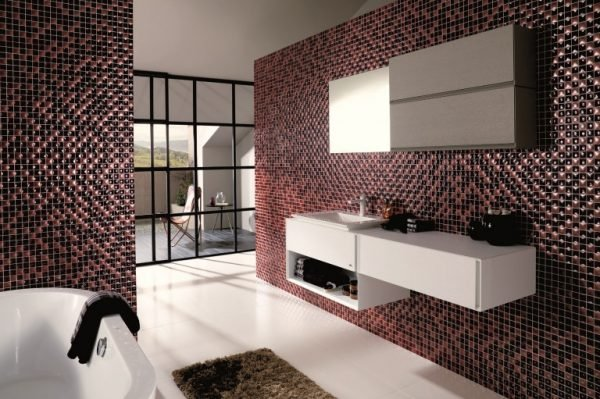 mosaic bathroom wall tiles