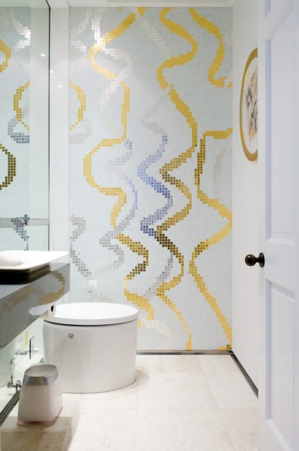 marble mosaic tile bathroom