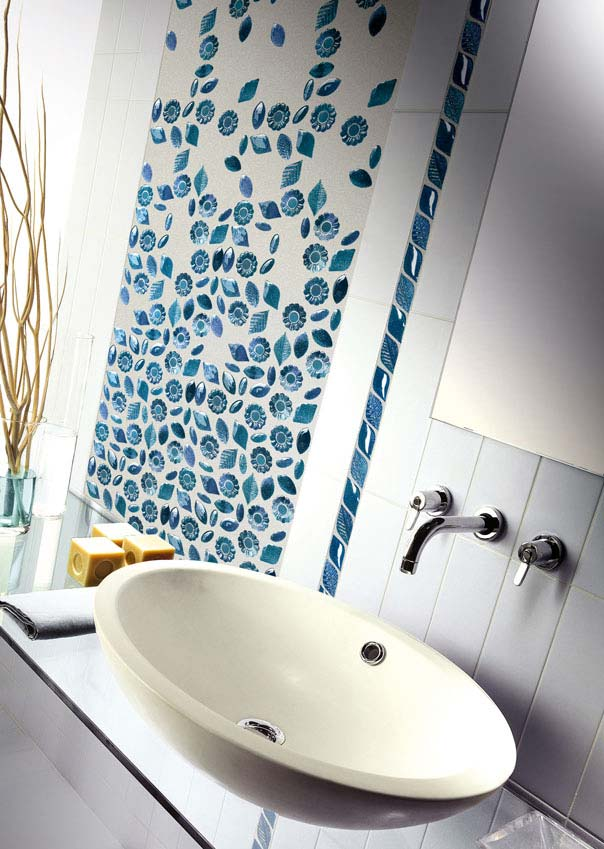 mosaic glass bathroom tiles