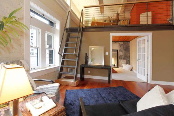 mezzanine style apartment
