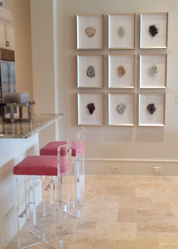 framed crystals