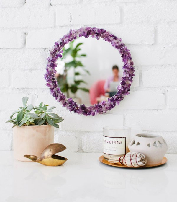 decorative mirrors with crystals