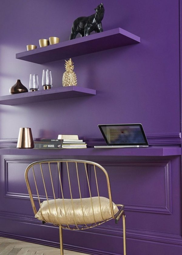 violet room decor