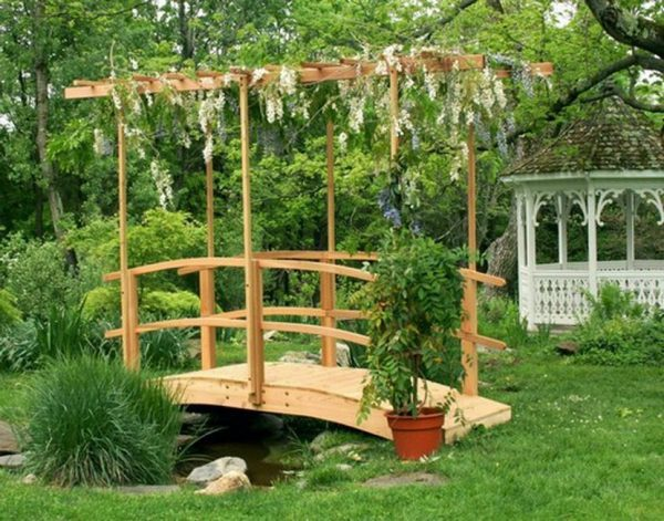 wooden bridges for garden