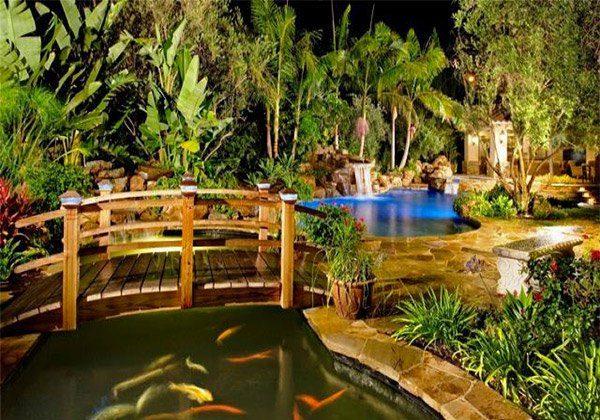 landscaping bridges for gardens