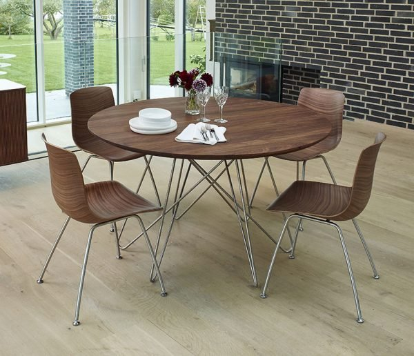 round dining table metal legs