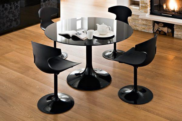 black circle dining table