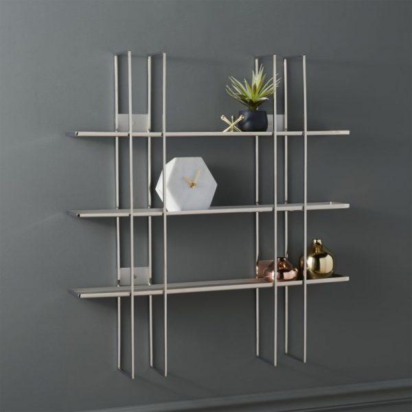 wall mount stainless steel shelves