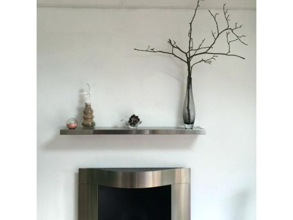 small stainless steel shelf