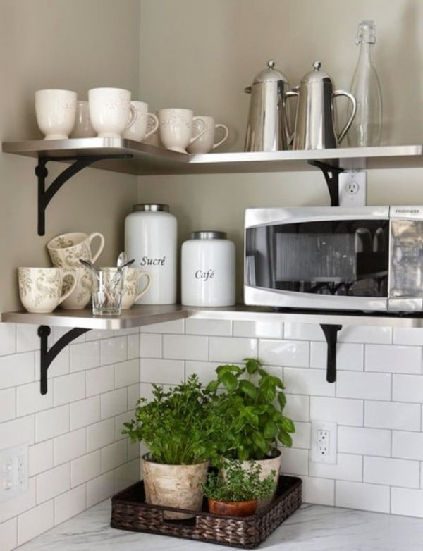 corner shelf stainless steel