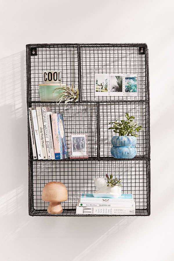wire mesh shelving units