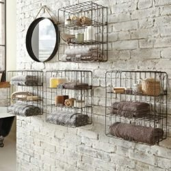 Simple wire mesh shelves