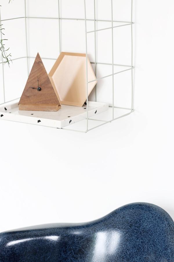 wall mounted wire mesh shelving