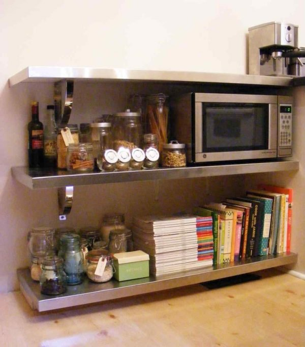 steel microwave shelf