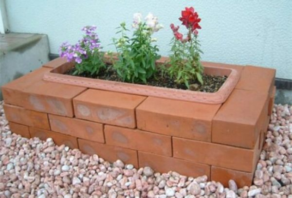 Yard ideas with bricks