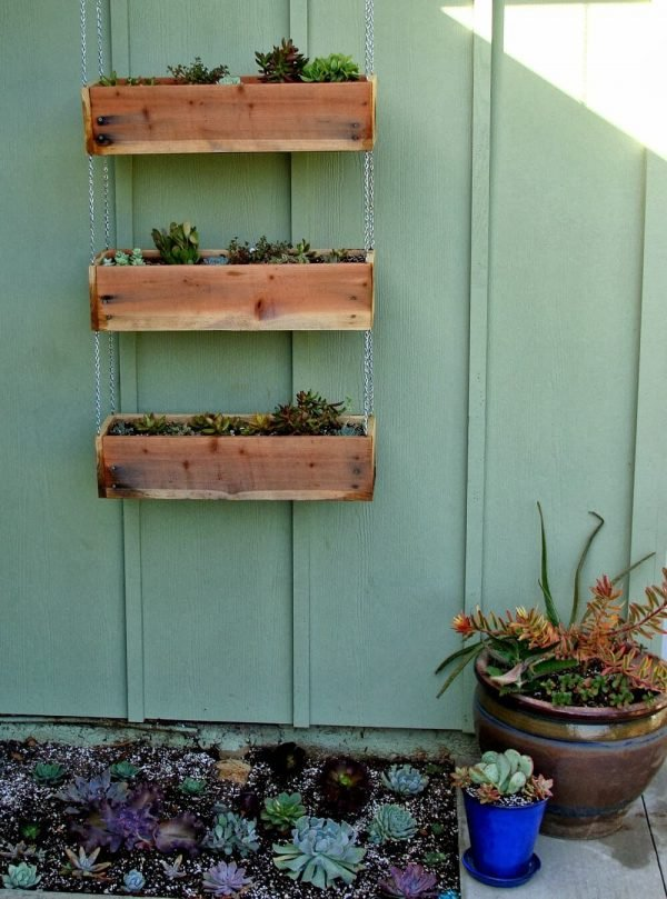 Planter Boxes Made From Pallets Little Piece Of Me