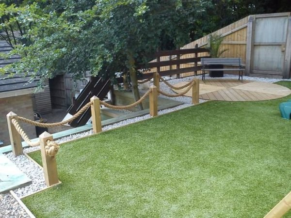 rope fencing for decking