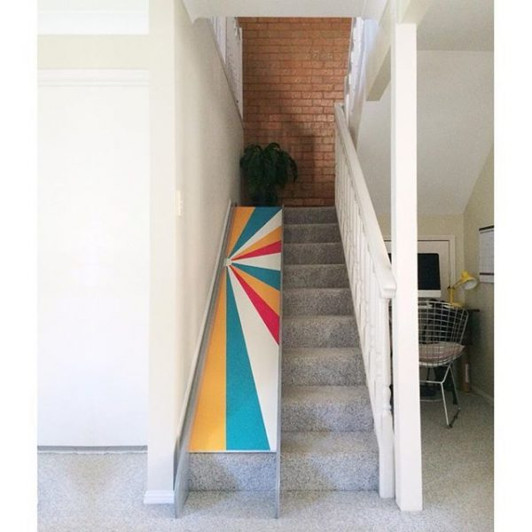 indoor slide for stairs