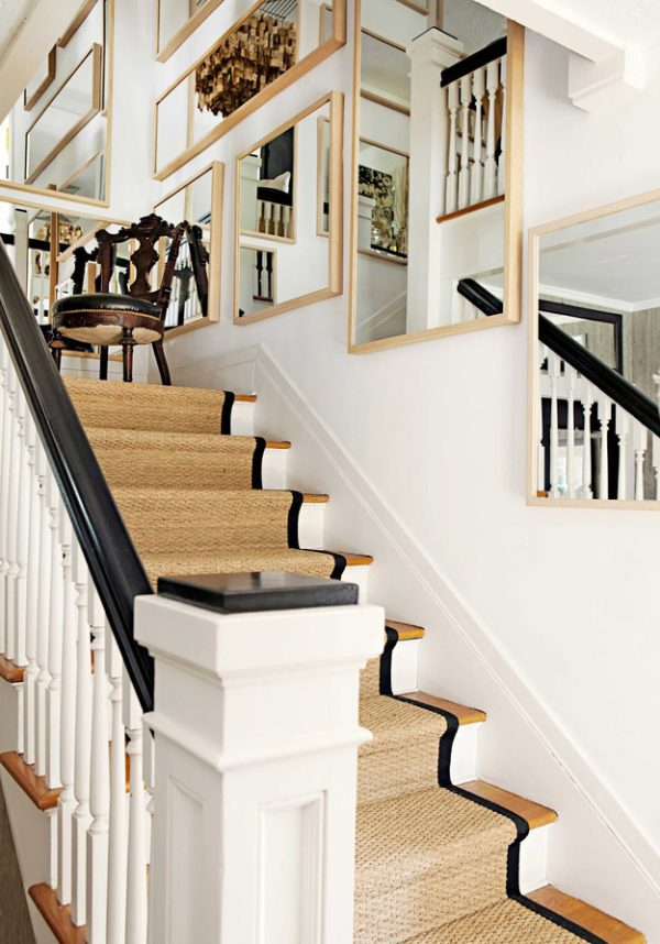 ideas for decorating stair walls