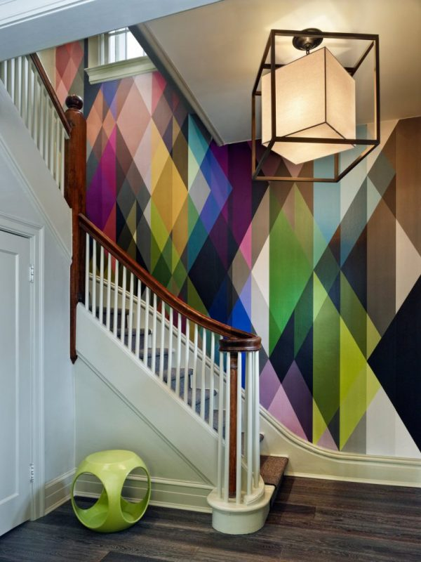 wallpaper ideas for staircase walls
