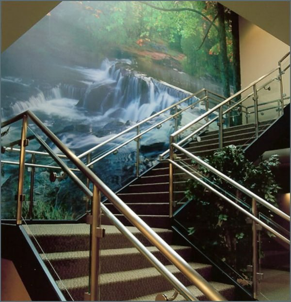 staircase wall murals