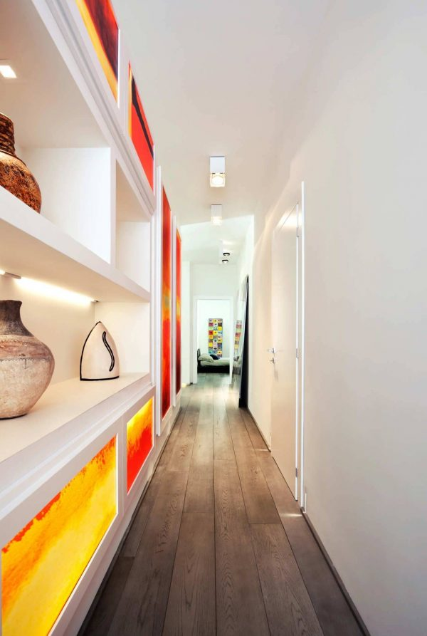 narrow hallway storage ideas